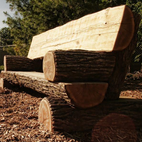 Full Log Park Bench Nature S Instruments