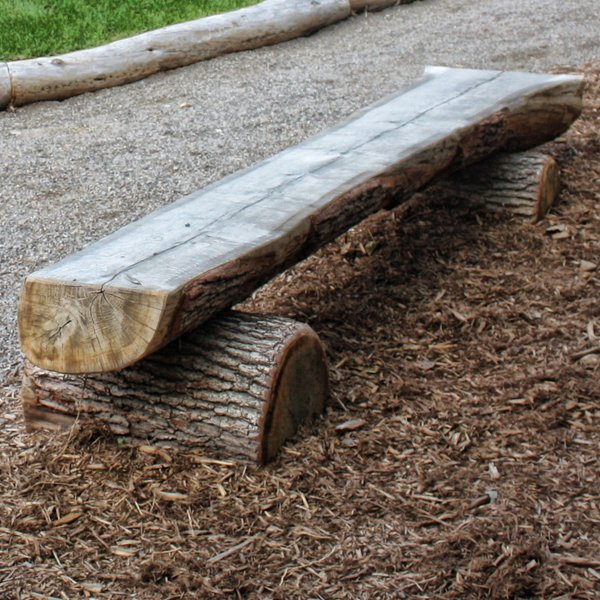 Incredible Backless Log Park Bench Beatyapartments Chair Design Images Beatyapartmentscom